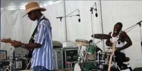 Listen to the Cedric Burnside Project's set from the Philadelphia Folk Festival