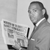James Meredith reads news about his entry into Ole Miss