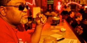 Red Paden, owner of Red's Lounge - photo by Lou Bopp