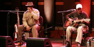 Photo recap and review of Jimmy &#8220;Duck&#8221; Holmes and Terry &#8220;Harmonica&#8221; Bean in concert at World Cafe Live by Jonny Meister