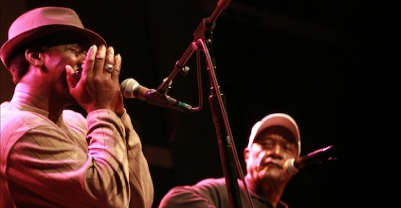"Listen to Jimmy ""Duck"" Holmes and Terry ""Harmonica"" Bean in concert from World Cafe Live"