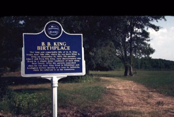 Historical Marker at B. B. King's birthplace