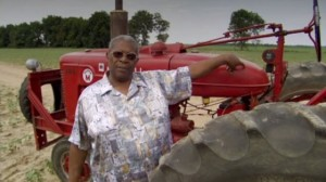 B. B. King with tractor