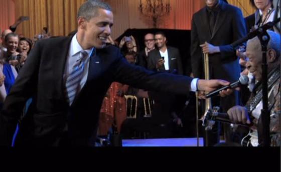 President Obama and B. B. King